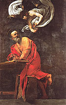 Saint Matthew and the Angel 1602 - Caravaggio reproduction oil painting