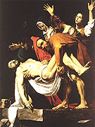 The Entombment c1602 - Caravaggio reproduction oil painting