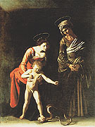 Madonna dei Palafranieri c1605 - Caravaggio reproduction oil painting