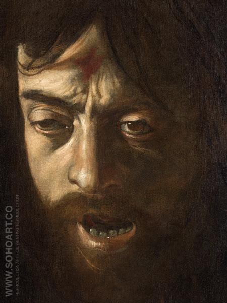 Head of Goliath c1605 - Caravaggio reproduction oil painting