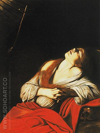 Saint Mary Magdalene in Ecstasy 1606 - Caravaggio reproduction oil painting