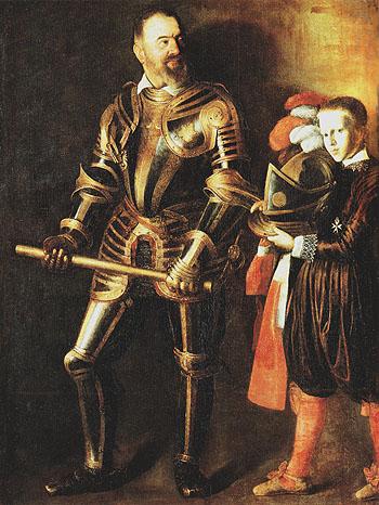 Portrait of  Alof de Wignacourt c1608 - Caravaggio reproduction oil painting