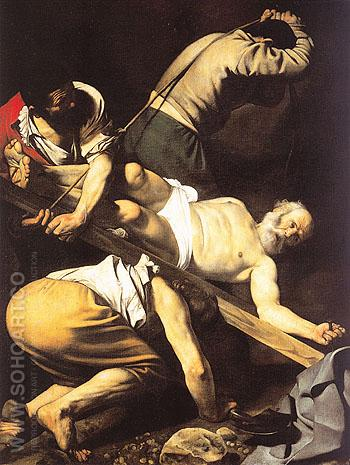 The Crucifixion of Saint Peter 1601 - Caravaggio reproduction oil painting