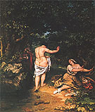 The Bathers 1853 - Gustave Courbet reproduction oil painting