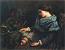 The Sleeping Spinner 1853 - Gustave Courbet reproduction oil painting