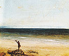 The Sea at Palavas 1854 - Gustave Courbet reproduction oil painting