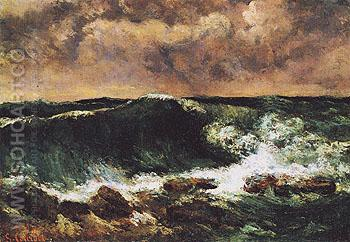 The Wave c1869 - Gustave Courbet reproduction oil painting
