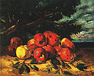 Red Apples at the Foot of a Tree c1871 - Gustave Courbet