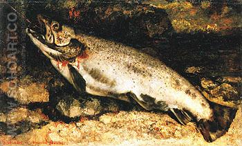 The Trout 1871 - Gustave Courbet reproduction oil painting