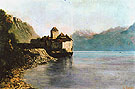 The Chateau de Chillon 1874 - Gustave Courbet