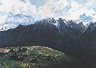 Panoramic View of the Alps La Dent du Midi 1877 - Gustave Courbet reproduction oil painting