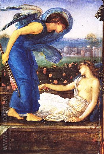 Cupid Finding Psyche c1865 - Edward Burne-Jones reproduction oil painting