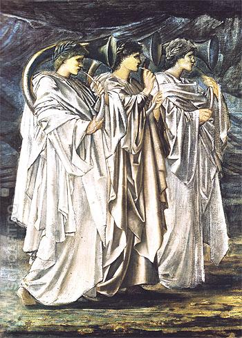 The Challenge in the Wilderness c1894 - Edward Burne-Jones reproduction oil painting