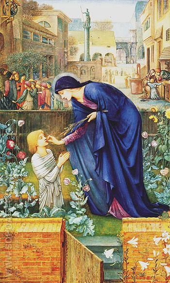 The Prioresss Tale c1865 - Edward Burne-Jones reproduction oil painting