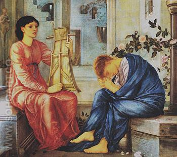 The Lament c1865 - Edward Burne-Jones reproduction oil painting