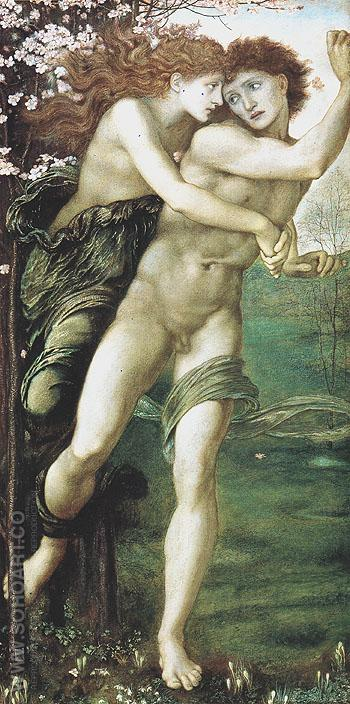Phyllis and Demophoon 1870 - Edward Burne-Jones reproduction oil painting