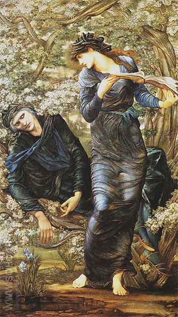 The Beguiling of Merlin c1873 - Edward Burne-Jones reproduction oil painting