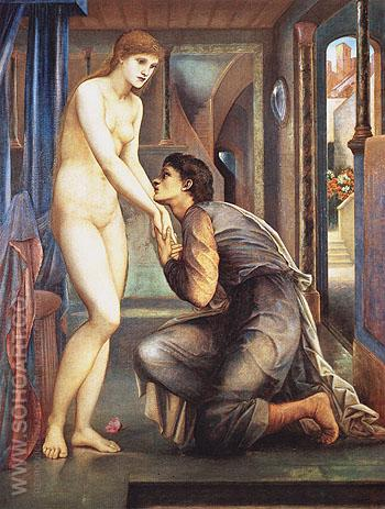 The Soul Attains c1868 - Edward Burne-Jones reproduction oil painting