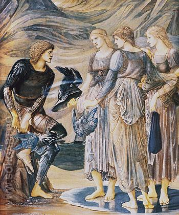 The Arming of Perseus 1877 - Edward Burne-Jones reproduction oil painting