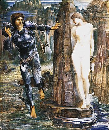 The Rock of Doom c1884 - Edward Burne-Jones reproduction oil painting
