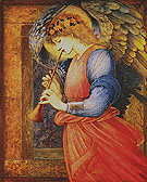 An Angel Playing a Flageolet 1878 - Edward Burne-Jones reproduction oil painting