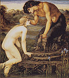 Pan and Psyche c1872 - Edward Burne-Jones reproduction oil painting