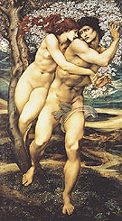 The Tree of Forgiveness c1881 - Edward Burne-Jones reproduction oil painting