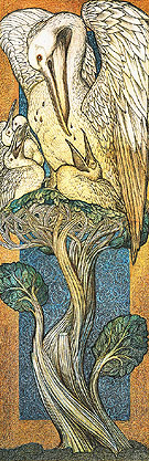 The Pelican in Her Piety 1880 - Edward Burne-Jones reproduction oil painting