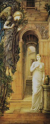 The Annunciation c1876 - Edward Burne-Jones reproduction oil painting