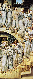The Golden Stairs c1876 - Edward Burne-Jones reproduction oil painting