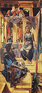 King Cophetua and the Beggar Maid c1883 - Edward Burne-Jones reproduction oil painting