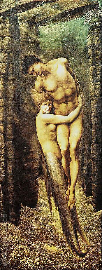 The Depths of the Sea 1886 - Edward Burne-Jones reproduction oil painting
