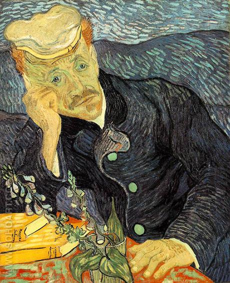 Portrait of Dr Gachet 1890 - Vincent van Gogh reproduction oil painting