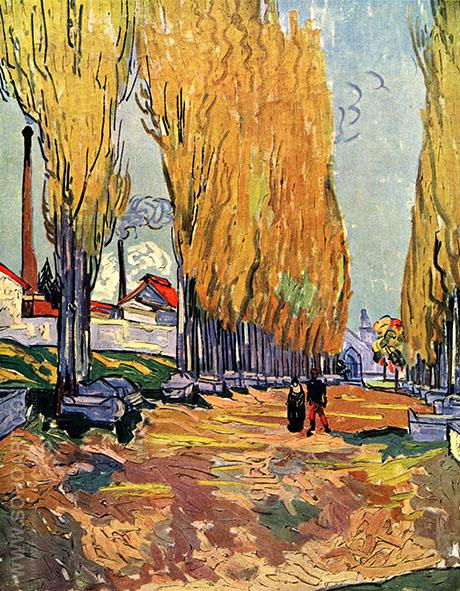 Les Alyscamps 1888 - Vincent van Gogh reproduction oil painting