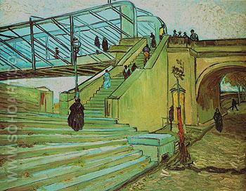 The Trinquetaille Bridge Arles 1888 - Vincent van Gogh reproduction oil painting