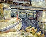 Seine Bridge near Asnieres 1887 - Vincent van Gogh reproduction oil painting
