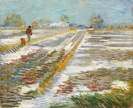 Landscape with Snow 1888 - Vincent van Gogh reproduction oil painting