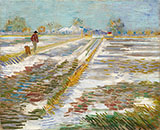 Landscape with Snow 1888 - Vincent van Gogh reproduction oil painting