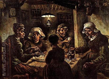 The Potato Eaters 1885 - Vincent van Gogh reproduction oil painting
