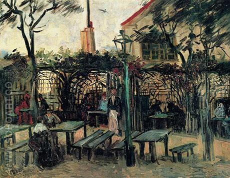 Terrace of a Cafe On Montmartre La Guinguette - Vincent van Gogh reproduction oil painting
