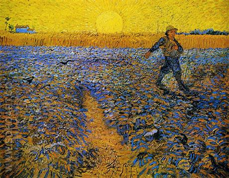Sower with Setting Sun After Millet 1888 - Vincent van Gogh reproduction oil painting