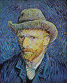 Self Portrait with Grey Felt Hat 1887 - Vincent van Gogh reproduction oil painting