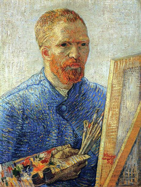 Self Portrait in front of an Easel 1888 - Vincent van Gogh reproduction oil painting