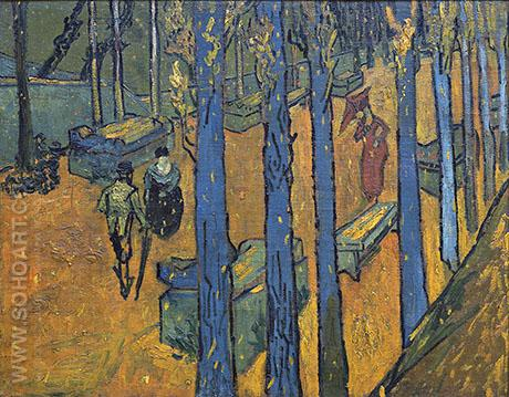 The Alyscamps at Arles 1888 - Vincent van Gogh reproduction oil painting