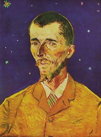 Portrait of Eugene Boch The Poet 1888 - Vincent van Gogh reproduction oil painting
