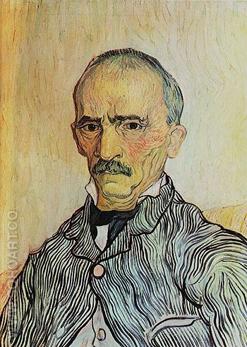 Portrait of Trabu Attendant at St Pauls Hospital 1889 - Vincent van Gogh reproduction oil painting