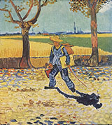 The Artist on the Road to Tarascon 1888 - Vincent van Gogh reproduction oil painting