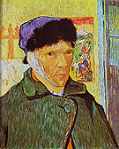 Self Portrait with Bandaged Ear Arles 1889 - Vincent van Gogh reproduction oil painting