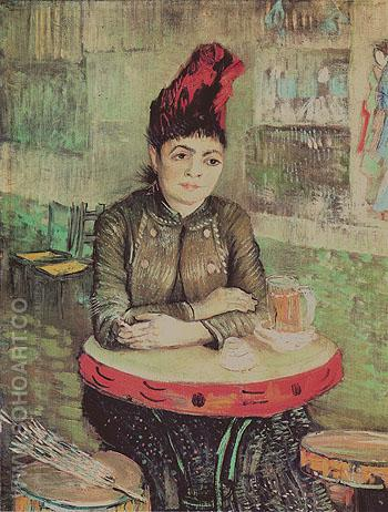 Woman at a Table in the Cafe du Tambourin 1887 - Vincent van Gogh reproduction oil painting