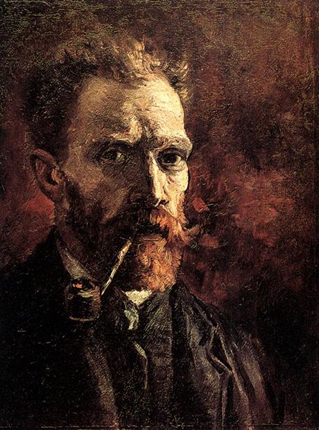 Self Portrait 1886 - Vincent van Gogh reproduction oil painting